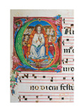 Choral part of the Mass, illuminated manuscript, 15th c. Osservanza Basilica, Siena, Italy Poster