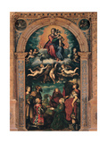 Sforza Altarpiece, Glorified Madonna with the Donors, Giulio Campi, 1502-1572. Prints by Giulio Campi