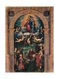 Sforza Altarpiece, Glorified Madonna with the Donors, Giulio Campi, 1502-1572. Prints by Giulio Campi