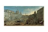 View of Piazza Navona Kunstdrucke von Gaspare Vanvitelli