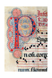 Psalter with holiday Hymns, illuminated manuscript, 15th c. Osservanza Basilica, Siena, Italy Poster