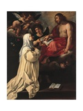 Jesus Appears to the Blessed Margaret the Carthusian Posters af Rutilio Manetti