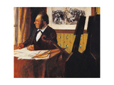 Louis Marie Pilet, cellist of the Orchestra at the Opera Prints by Edgar Degas