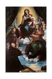 Madonna and Child, Sts. Joseph, Catherine, Agnes Print by Giulio Campi
