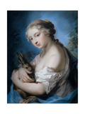 Allegory of Autumn, by Rosalba Carriera, 1726-1727. Private collection Giclée-tryk af Rosalba Carriera