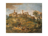 View of Tossignano Giclee Print by Mons Leandro Christian Reder