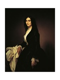 Portrait of the Singer Matilde Juva Branca Posters by Francesco Hayez