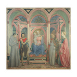 Madonna with Child and Sts. Lucy, Francis,John the Baptist, Zenobius, by Domenico Veneziano,15th c. Giclée-Druck von Domenico Veneziano