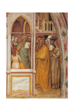 Baptism of Queen Lupa and Consecration of the Sanctuary Plakat af Altichiero da Zevio