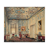 Room of Carolina Murat in the Palazzo Reale in Naples Premium Giclee Print by Elie-Honore Montagny