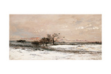 Snow Poster by Charles-Franois Daubigny