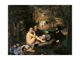 Breakfast in the Greenery Giclee Print by Edouard Manet