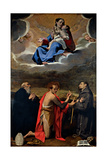 Madonna & Sts. Benedict, John the Baptist & Francis Prints by Bartolomeo Cesi