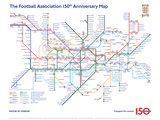 The FA 150th Anniversary Tube Map Posters