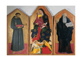 Madonna & Child with Angels, St. Francis & St. Anthony Abbot Prints by Giovanni di  Pellegrino