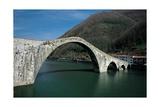Ponte della Maddalena (known as Ponte del Diavolo), 14th c. Lucca Province, Italy Prints