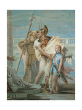 Aeneas Introducing Cupid Dressed as Ascanius to Dido Print by Tiepolo Giambattista