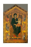 Madonna Ruccellai (Madonna Enthroned with Child and Six Angels) by Duccio di Buoninsegna, c. 1285. Posters by Duccio Di buoninsegna