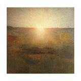 Rising Sun Poster by Giuseppe Pellizza da Volpedo