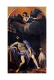 St. Roch in Prison Prints by Guido Reni