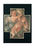 Putti carrying Mitre Art by Guido Reni