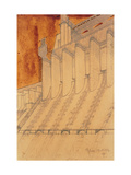 Electric Power Plant, by Antonio Sant'Elia, 1914. Italy Giclee Print by Altichiero Sant'Elia
