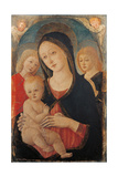 Madonna with Child and Two Angels Kunst af Guidoccio Cozzarelli