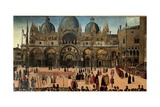 Procession in St. Mark's Square Posters af Gentile Bellini