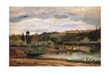 Ferry at Varenne Saint Hilaire Affiches par Camille Pissarro