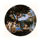 Venus at her Toilet Plakater af Francesco Albani