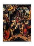 Adoration of the Magi, Nativity by Jan de Beer, 1510. Brera Gallery, Milan, Italy Posters by Jan de Beer