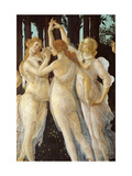 Primavera, Three Graces, by Botticelli, c. 1478, Uffizi Gallery, Florence, Italy. Detail Giclee Print by Botticelli