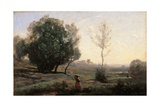 Souvenir of the Landes Prints by Jean-Baptiste-Camille Corot