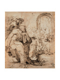 Study for the Nativity of St Martin Plakater af Domenico Beccafumi