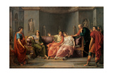 Virgil Reading The Aeneid To Augustus And Octavia Posters by Jean-Baptiste Wicar