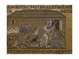 Noah Gathers Birds into the Ark. South Vault. St. Mark's Basilica, Venice. 10th c.  Italy Print