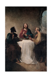 Supper at Emmaus Print by Giovanni Marghinotti