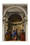 San Zaccaria Altarpiece (Madonna Enthroned) Posters by Giovanni Bellini