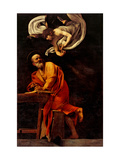 St. Matthew and the Angel, by Caravaggio, 1602. San Luigi dei Francesi Church, Rome, Italy Giclee Print by  Caravaggio