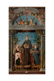 St. Bernardine of Siena and Angels Art by Andrea Mantegna