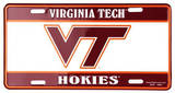 Virginia Tech Hokies License Plate Tin Sign Blikskilt