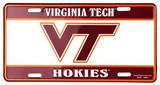 Virginia Tech Hokies License Plate Tin Sign Plechová cedule