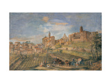 View of Viscardo Castle, Mons Leandro Christian Reder, 16th c. Palazzo Spada, Rome, Italy Giclee Print by Mons Leandro Christian Reder
