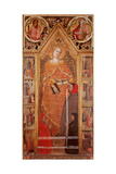 St. Catherine of Alexandria with donors Print by Giovanni del Biondo