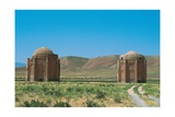 Mausoleums of Kharraghan, Iran 1068. Poster