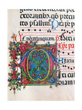 Psalter with Hymns, illuminated manuscript by   Matteo di Giovanni, 1474. Osservanza Basilica,Siena Poster by Matteo di Giovanni