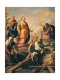 St. Helen Print by Sigismondo Caula