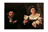 Family Portrait Prints by Lorenzo Lotto