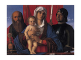 Virgin with Child, Sts. Paul and George Print by Giovanni Bellini