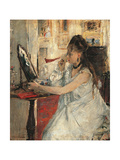 Young Woman Powdering Her Face Posters by Berthe Morisot